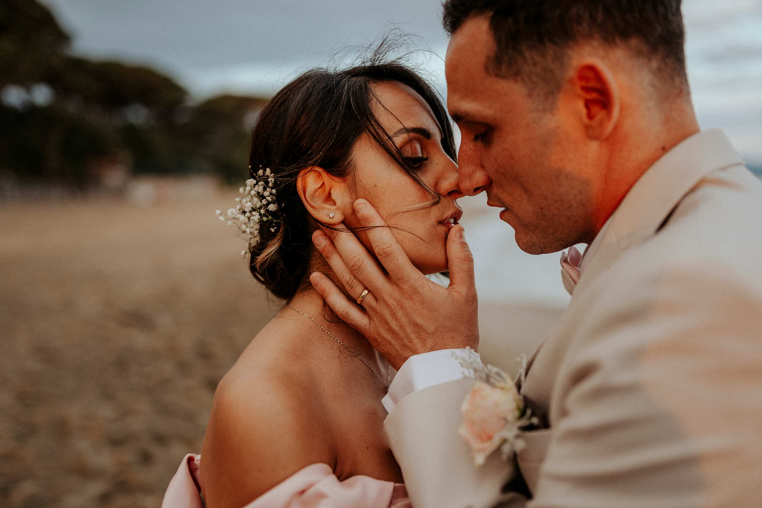 intimate wedding on the beach