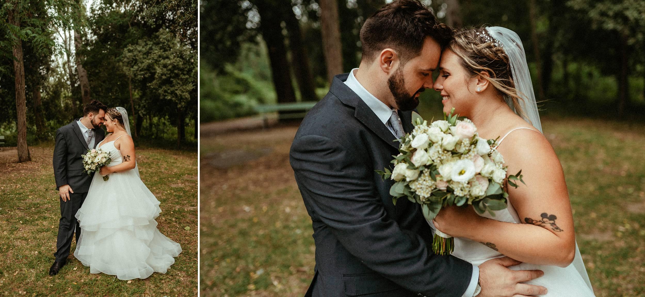 sessione di coppia matrimonio nel parco